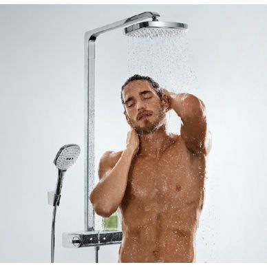 Душевая система Hansgrohe Raindance Select Showerpipe E300 2jet (27128400) 4