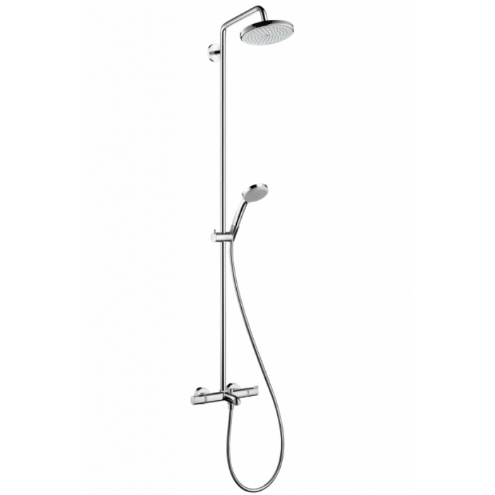 hansgrohe croma 220 showerpipe 27223000. Black Bedroom Furniture Sets. Home Design Ideas