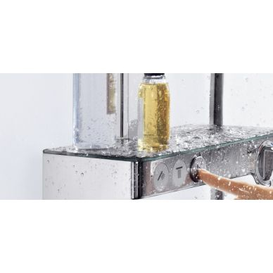 Душевая система Hansgrohe Raindance Select Showerpipe E300 2 jet (27127000) (полка хром) 1
